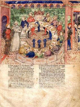 The Knights of the Round (Miniature From La Quete Du Saint Graal Et La Mort D'Arthus)
