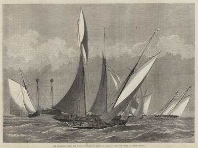 The Kriemhilda, with the Prince of Wales on Board, in Collision with the Shark at Cowes Regatta