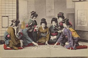 Girls Playing Uta-Garuta by The Kyoto Collection
