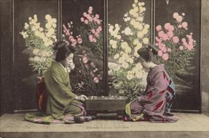 "Ohanasan Playing ""Go"" Game by The Kyoto Collection"