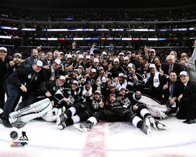 The LA Kings Celebration on ice Game 5 of the 2014 Stanley Cup Finals Action