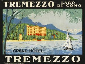 The Label for the Grand Hotel at Tremezzo on Lake Como