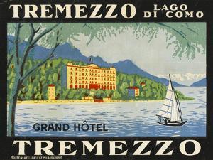 The Label for the Grand Hotel at Tremezzo on Lake Como