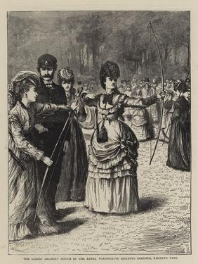 The Ladies' Archery Match in the Royal Toxophilite Society's Grounds, Regent's Park