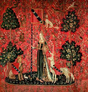 """The Lady and the Unicorn: """"Touch,"""" circa 1500"""