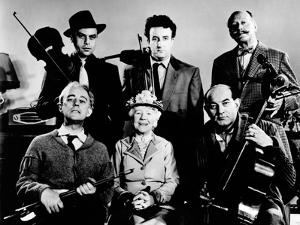 The Ladykillers, Alec Guinness, Herbert Lom, Katie Johnson, Peter Sellers, Danny Green, 1955