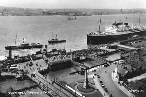 The Landing Stage at Liverpool Docks, Merseyside, Early 20th Century