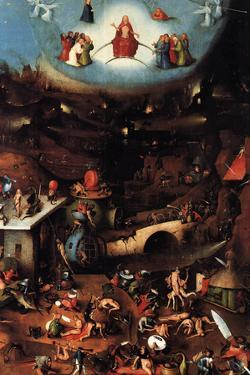 The Last Judgment Center Panel - Hieronymus Bosch Plastic Sign