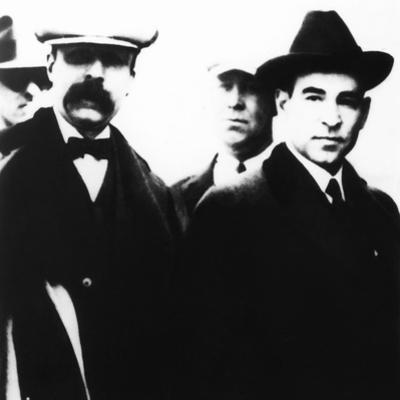 The Last Public Appearance in 1927 of the Sacco and Vanzetti