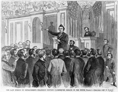 The Last Speech on Impeachment of President Andrew Johnson