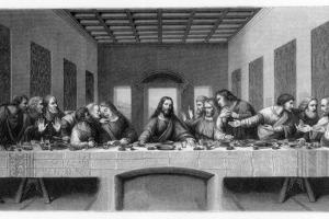 The Last Supper, 1498 by E Foutana