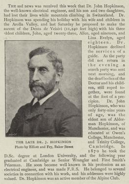 The Late Dr J Hopkinson