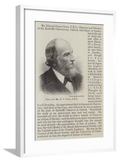 The Late Mr E J Stone--Framed Giclee Print