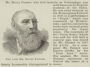 The Late Mr Henry Farmer