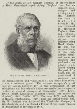 The Late Mr William Chaffers