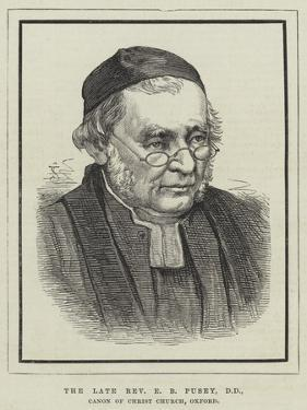 The Late Reverend E B Pusey, Canon of Christ Church, Oxford