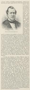 The Late Sir Alexander Galt