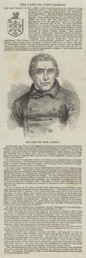 The Late Sir John Barrow