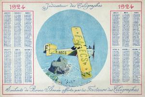 The Latecoere Rabat-Toulouse Postal Plane Flying over the Rock of Gibraltar