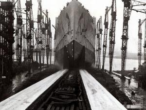 The Launch of the Ship the Queen Mary