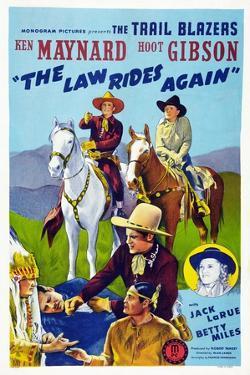 The Law Rides Again, Chief Thundercloud, Ken Maynard, Hoot Gibson, Betty Miles, 1943