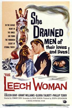 The Leech Woman, from Left: Coleen Gray, Grant Williams, 1960