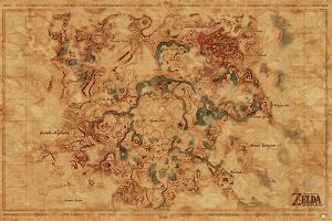 The Legend Of Zelda: Breath Of The Wild: Hyrule World Map