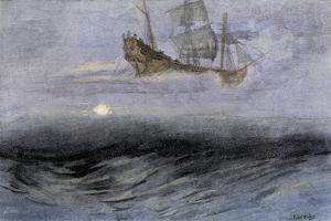 """The Legendary """"Flying Dutchman,"""" a Phantom Ship Feared by Sailors"""