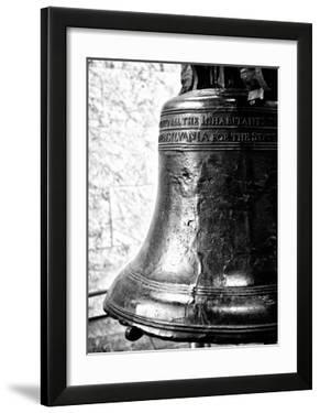 The Liberty Bell  Philadelphia  Pennsylvania  United States  Black and White Photography