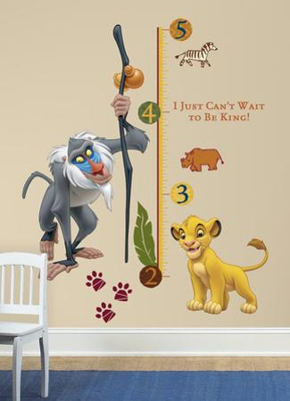 The Lion King Rafiki Peel & Stick Giant Growth Chart Wall Decal