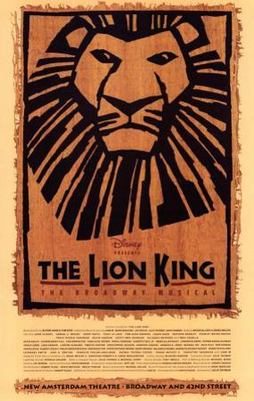 The Lion King The Broadway Musical - Broadway Poster