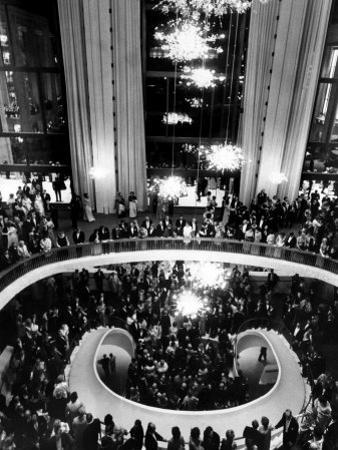 The Lobby of the Metropolitan Opera, Lincoln Center, New York City, 1960's