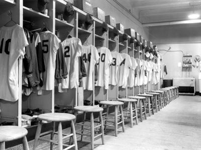 The Locker Room of the Brooklyn Dodgers