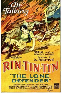 THE LONE DEFENDER, from left: June Marlowe, Rin-Tin-Tin in 'Episode 2: The Fugitive', 1930.