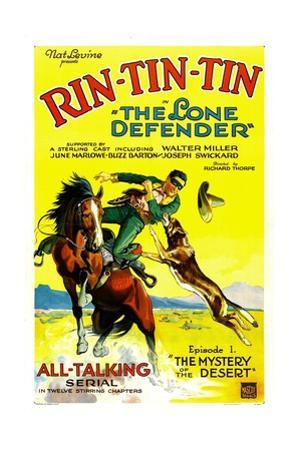 THE LONE DEFENDER, right: Rin-Tin-Tin in 'Chapter 1: The Mystery of the Desert', 1930