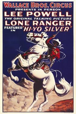 THE LONE RANGER, special circus poster, 1938.