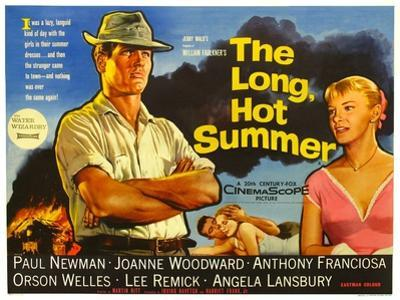 The Long, Hot Summer, UK Movie Poster, 1958