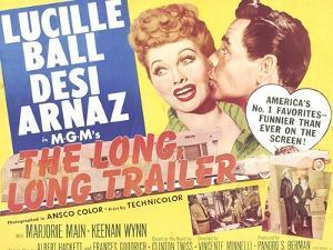 The Long, Long Trailer, Lucille Ball, Desi Arnaz on title lobbycard, 1954