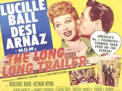 The Long, Long Trailer, Lucille Ball, Desi Arnaz on title lobbycard, 1954