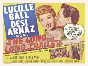 The Long Long Trailer, UK Movie Poster, 1954