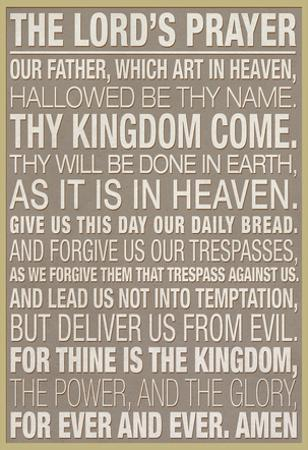 The Lord's Prayer Religious
