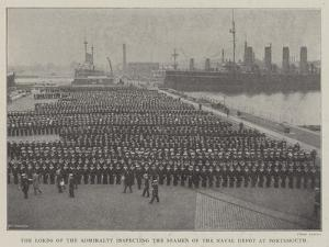 The Lords of the Admiralty Inspecting the Seamen of the Naval Depot at Portsmouth