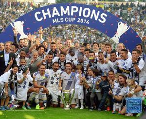 The Los Angeles Galaxy Celebrate Winning the 2014 MLS Cup Final