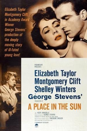 """The Lovers, 1951, """"A Place In the Sun"""" Directed by George Stevens"""
