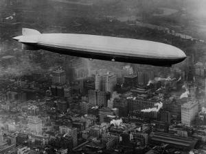 The LZ 129 Graf Zeppelin, over Philadelphia, Pennsylvania, October 16, 1928
