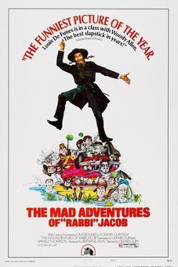 The Mad Adventures of Rabbi Jacob, (Aka Les Aventures De Rabbi Jacob), Center: Louis De Funes, 1973