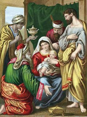 The Magi Presenting their Gifts to the Infant Jesus, C1860