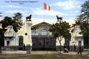 The Main Entrance to the Exhibition, Lima, Peru, C1900s
