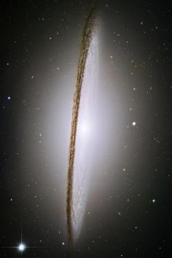 The Majestic Sombrero Galaxy M104 Space Plastic Sign