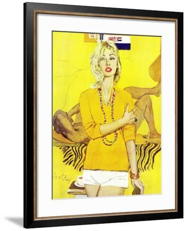 """The Man Who Scorned Christmas - Saturday Evening Post """"Leading Ladies"""", December 19, 1959 pg.29-Coby Whitmore-Framed Giclee Print"""